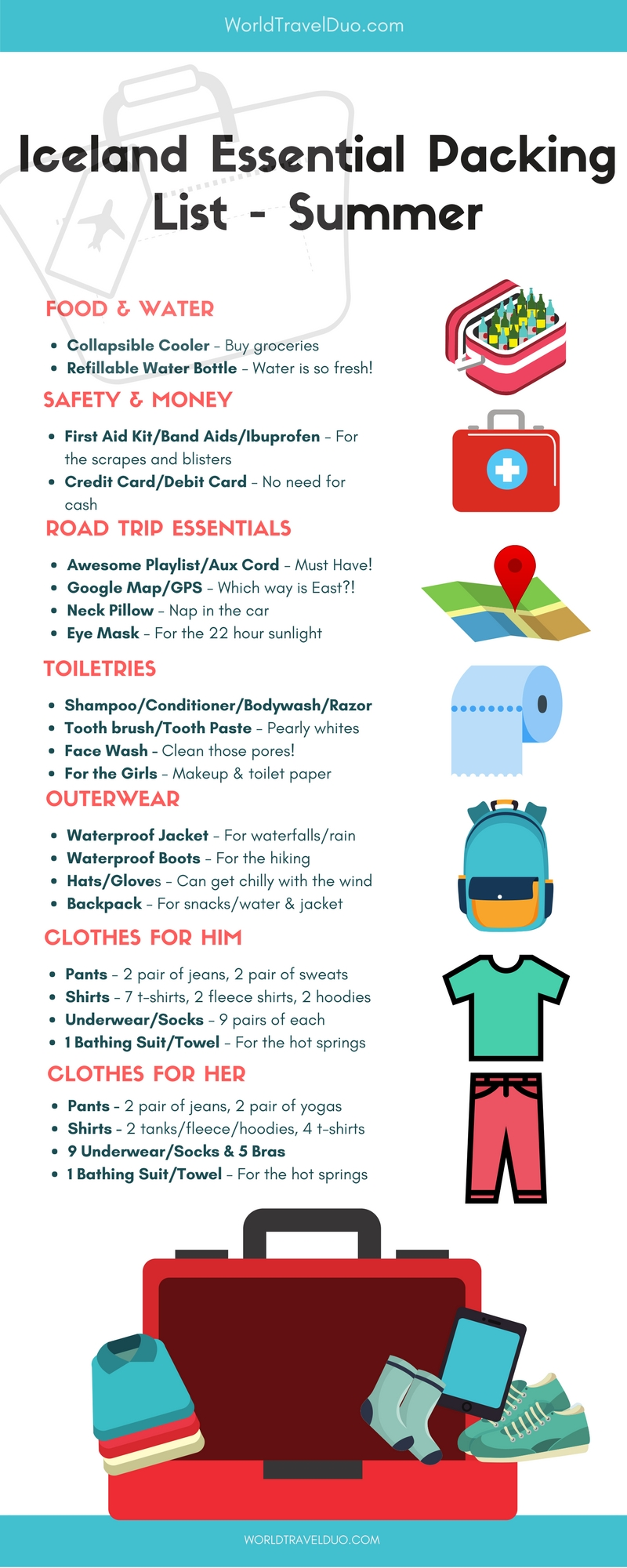 essential iceland road trip packing list for summer